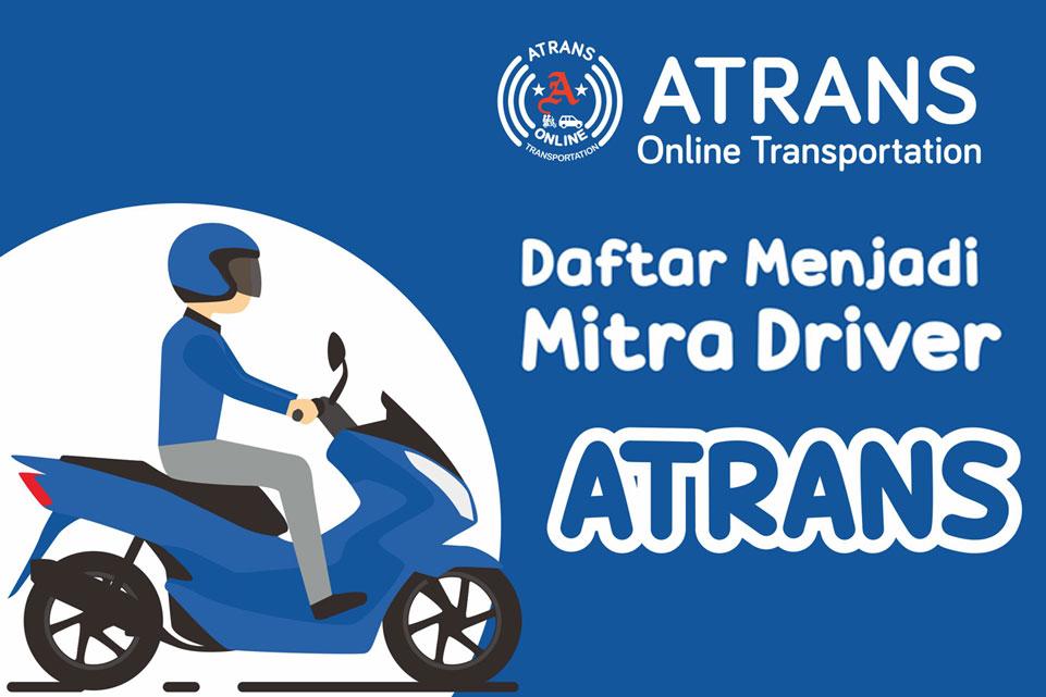 Pendaftaran mitra driver atrans transportasi